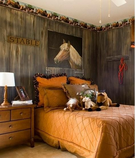 a cool site with a bunch of horse themed rooms. click on the link not the photo. http://www.houzz.com/photos/kids/horses-/p/24