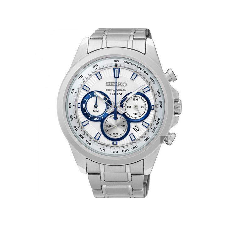 Ανδρικό μοντέρνο ρολόι SEIKO SSB239P1 με χρονογράφο, ταχύμετρο, ημερομηνία, 24ωρη ένδειξη, ασημί με ατσάλινο μπρασελέ | SEIKO ρολόγια ΤΣΑΛΔΑΡΗΣ στο Χαλάνδρι #seiko #χρονογραφος #μπρασελε #tsaldaris