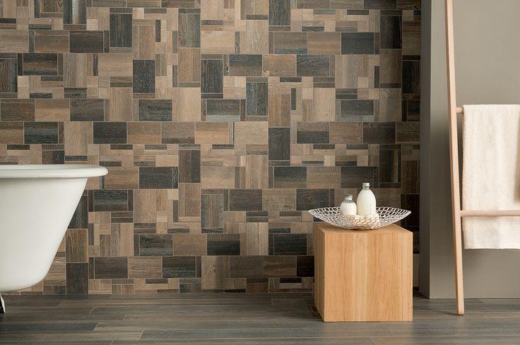 #Rivestimenti #bagno effetto #legno #Ceramica Fioranese Cottage #Wood Brunito  FMG iris ...