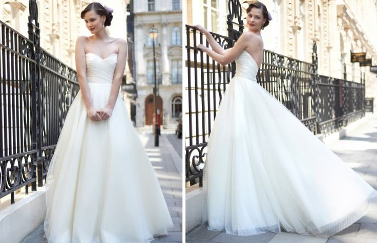 "Say hello to the ""Allie"" a lovely wedding dress from 2014 Stephanie Allin bridal collection!"