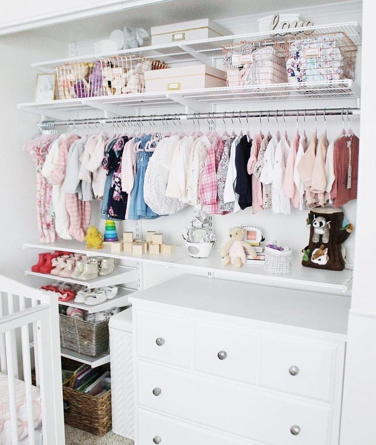 We were so happy to help @withkendra design and set up her twin girls closet to help make the transition a little more seamless. Babies are happy healthy and here!! See the full video on her YouTube channel! (Link in profile)  #nursery #twingirls