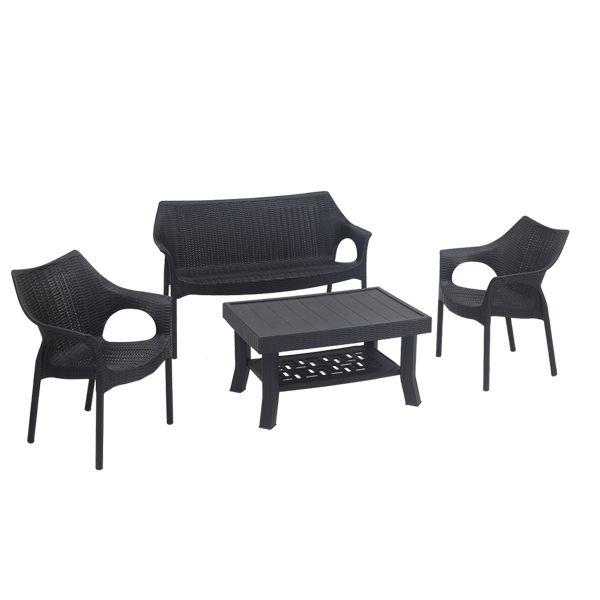 Supreme Plastic Coffee Table Set In 2020 Love Seat Coffee Table Sofa Set