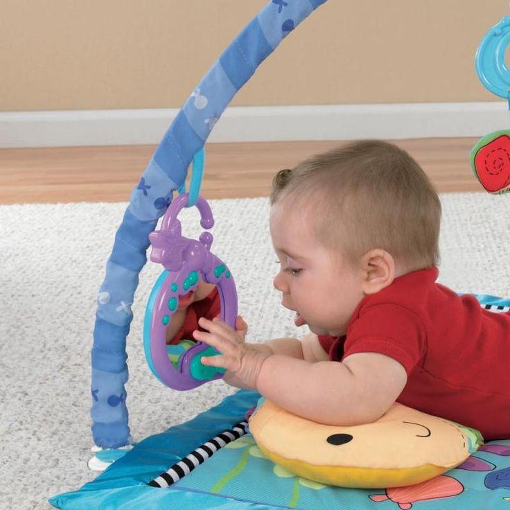 Lindo Tapete e Ginásio de Atividades da Fisher Price. Alugar na Brinquedo e Brincadeira.