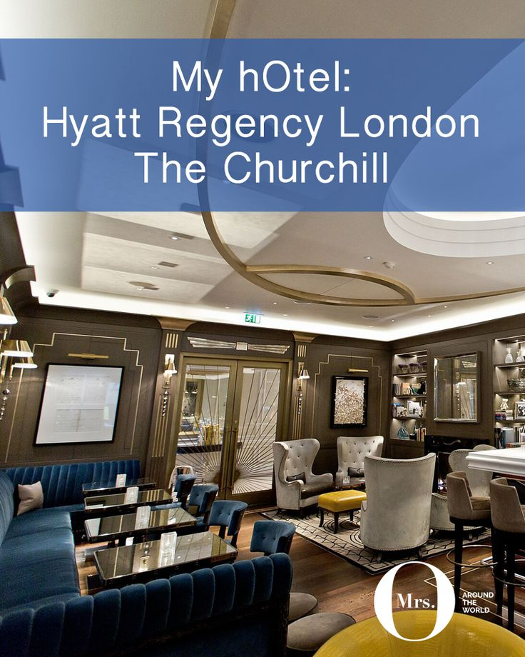 The Churchill Bar (at the Hyatt Regency London, The Churchill) is beautiful, and if you don't get there around 5pm, you won't get a table. The secret is out and it's absolutely worth a visit if you are staying at the hotel.