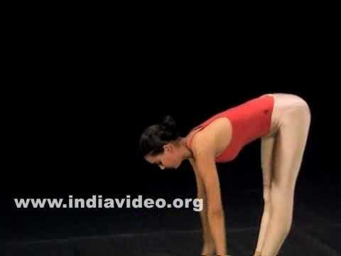 Pada Hasthasana (The forward bend - standing)
