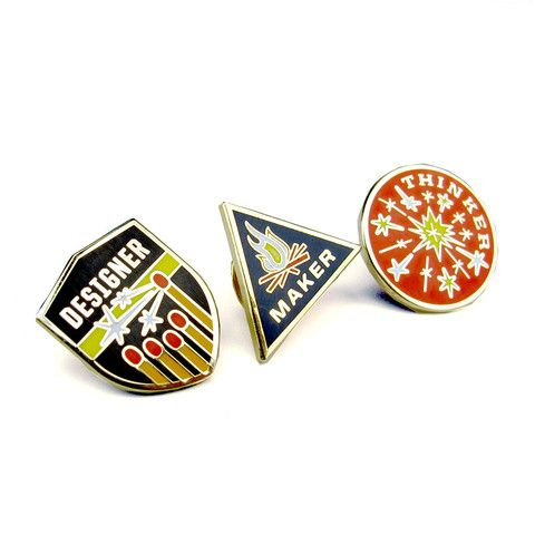 Designer, Maker, Thinker Enamel Pin Set - Skinny Vinny // $35