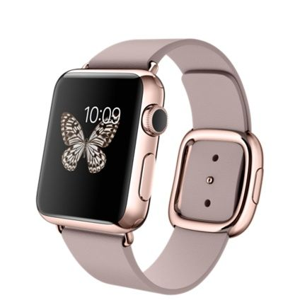 Apple Watch Edition - 38mm 18-Karat Rose Gold Case with Rose Gray Modern Buckle - Apple