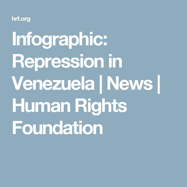 Infographic: Repression in Venezuela | News | Human Rights Foundation