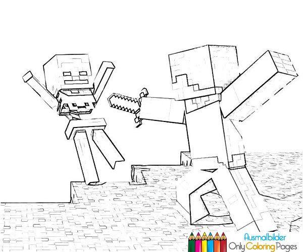 Minecraft Ausmalbilder Ausmalbilder Pinterest