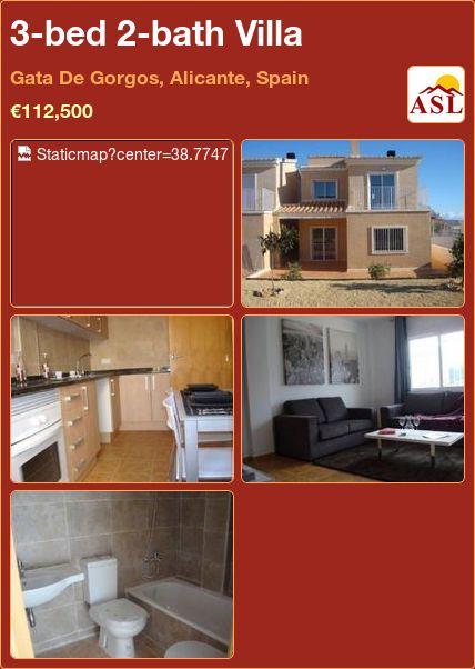 3-bed 2-bath Villa in Gata De Gorgos, Alicante, Spain ►€112,500 #PropertyForSaleInSpain