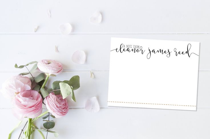 Custom Stationery  | Custom Stationary | Floral Notecards | Personalized Notecards | Bridesmaid Gift | A Note From | Custom Thank You Cards by ELouiseDesigns on Etsy