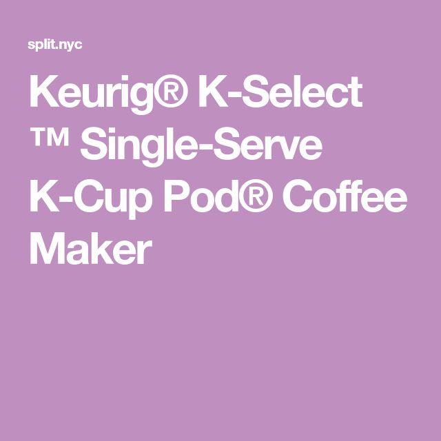 Keurig® K-Select ™ Single-Serve K-Cup Pod® Coffee Maker