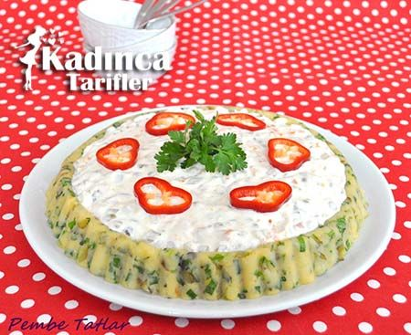 GARNİTÜRLÜ PASTATES SALATASI TARİFİ http://kadincatarifler.com/garniturlu-patates-salatasi-tarifi-2