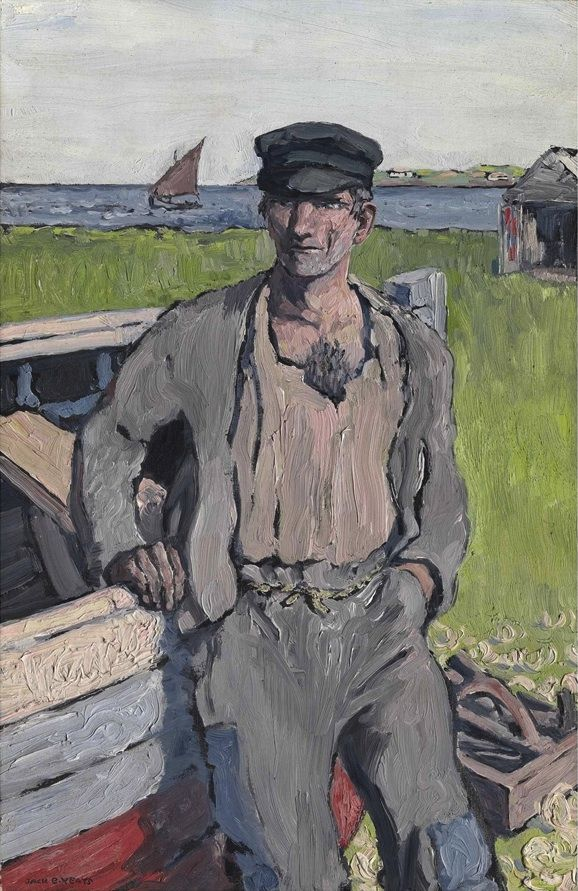 Jack Butler Yeats (Irish, 1871-1957), The Boat Builder, 1913. Oil on panel, 36.2 x 23.5 cm.