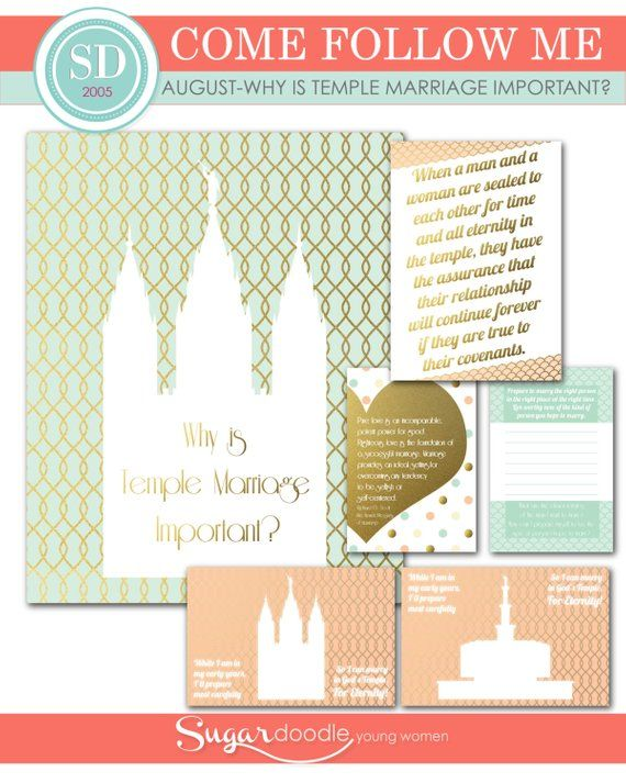 LDS YW Come Follow Me - August - Why is temple marriage