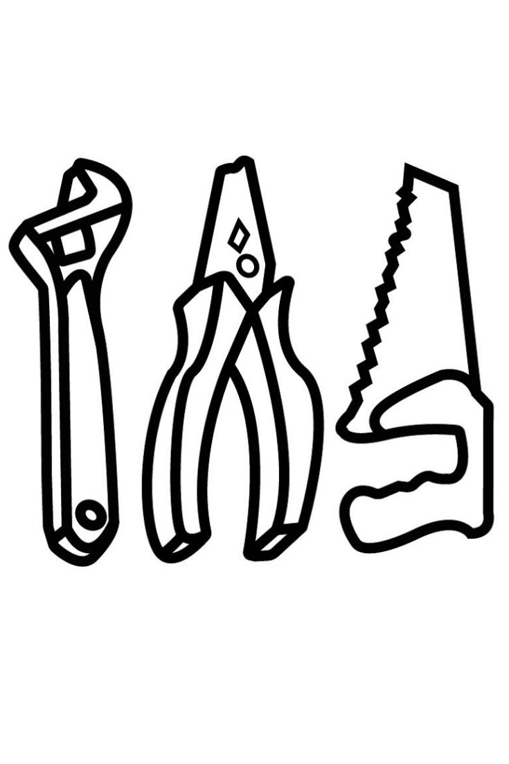 Draw Set Of Baby Repair Tools Coloring Pages Coloring Construction Equipment For Kids Learn Colors Learning Colors Coloring Pages Drawing Set