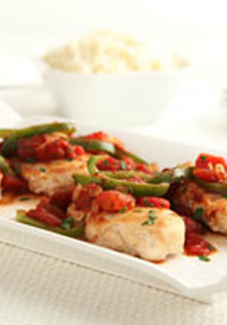A.1. Skillet Chicken -- This delicious, healthy living chicken recipe is ready in just 30 minutes. Serve this tasty skillet with rice or potatoes for dinner tonight!