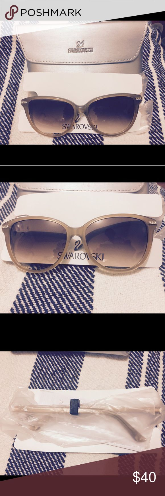 Swarovski sunglasses Swarovski sunglasses with 3 crystals on each side of the frame! New, still in packaging! Swarovski Accessories Sunglasses