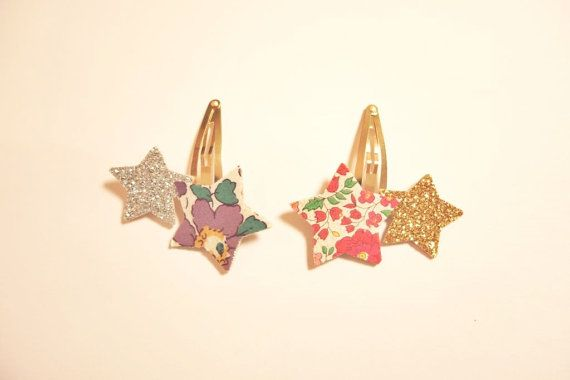 Star Hair clips_Set of 2_Liberty of London by NABISTYLE on Etsy