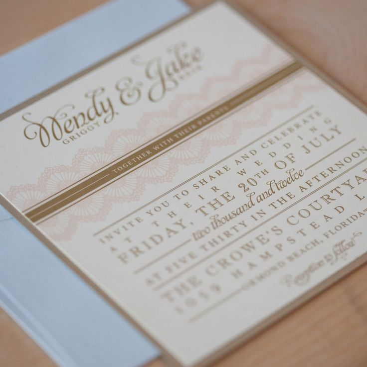 Vintage Wedding Invitation Shabby Chic Rustic Vintage