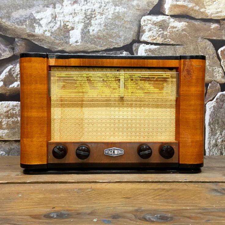Upcycled antieke radio 1950 (Bluetooth & USB)
