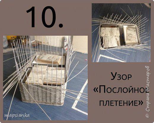 """MK """"Сундук с канатом"""" из газетных трубочек фото 8"""