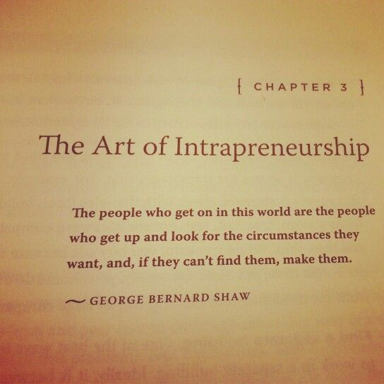 The Art of Intrapreneurship
