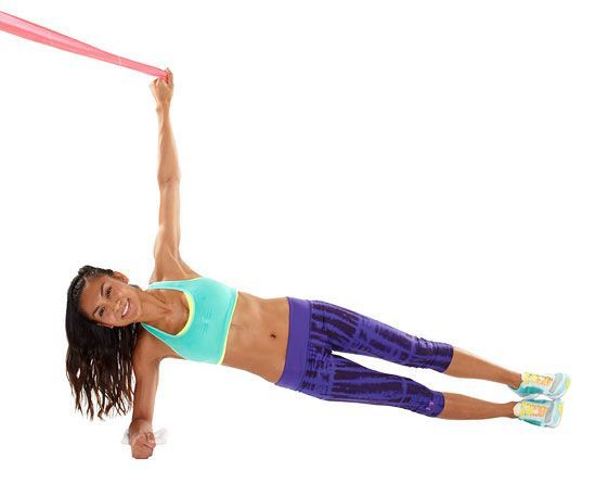 The Side Plank Pull Down