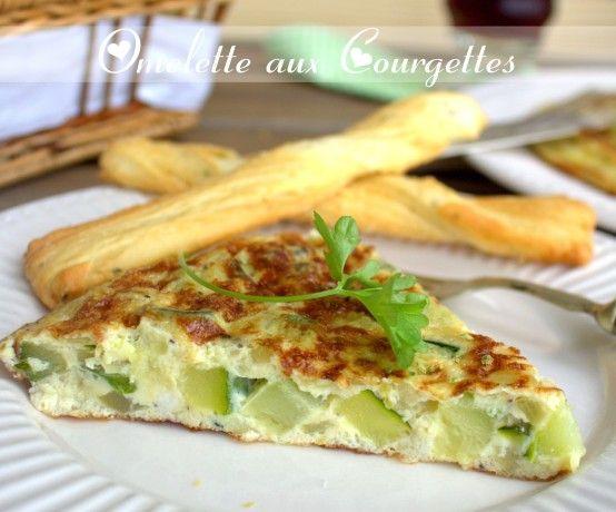 omelette a la courgette, omelette espagnole - Amour de cuisine