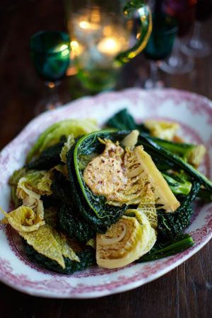 The beauty of this recipe is that you can vary the flavour combos Green veggies with flavoured butter