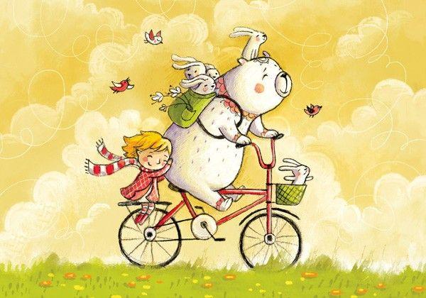 Ия и Ян. Велосипедное настроение