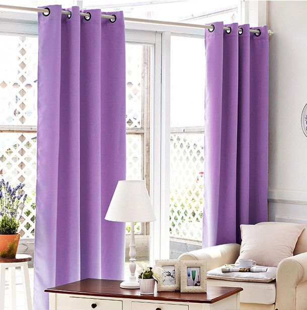 baby Girls room Ring Top Eyelet Blockout PURPLE Curtain 140x221cm drop - 1 panel  | eBay