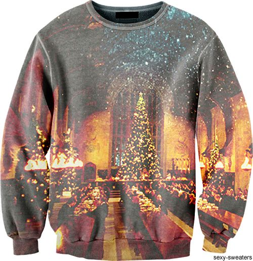 Ummmmm-pretty sure I need this as my next Christmas sweater! It's a Harry Potter Christmas Sweatshirt. I must own this before next Christmas!! I would bedazzle it and make my own Santa Claus - sorting hat and I would WIN THE FAMILY CHRISTMAS SWEATER CONTEST. MWAHAHAHAHAHA!!!
