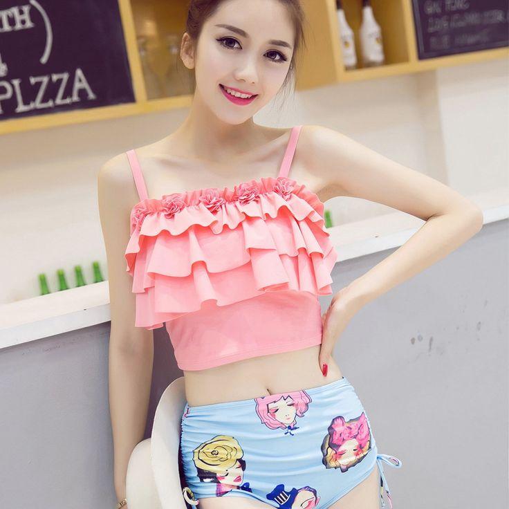 $25.98 (Buy here: https://alitems.com/g/1e8d114494ebda23ff8b16525dc3e8/?i=5&ulp=https%3A%2F%2Fwww.aliexpress.com%2Fitem%2FHan-Guoxi-song-split-new-swimsuit-girl-series-small-chest-sexy-hot-springs-2208-gather-steel%2F32692613139.html ) Swimming Suit For Women Retro Bikini Set Womens Bikinis 2016 Push Up 2208 Polyester Lycra Plavky Badpakken Biquini Feminino for just $25.98