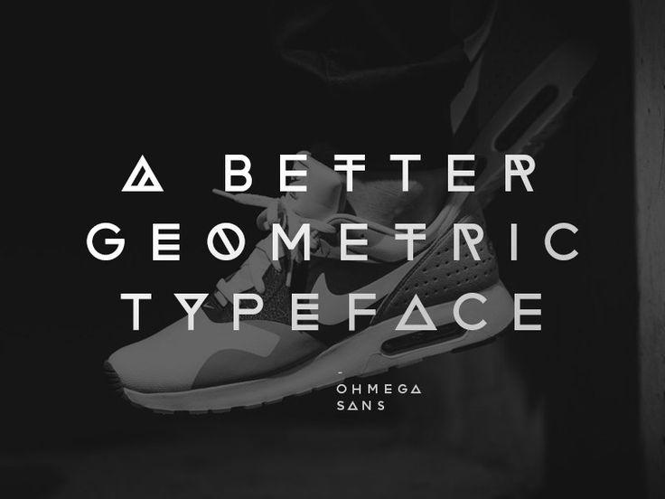 Ohmega Sans : Free Geomtric Typeface