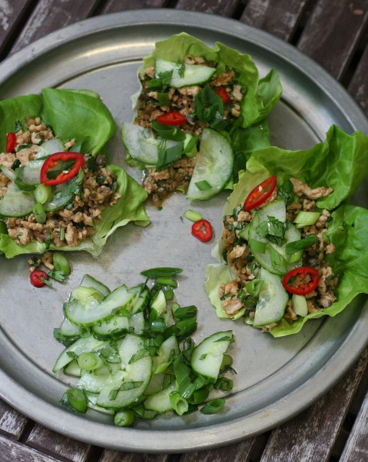 Thai-style lettuce wraps.