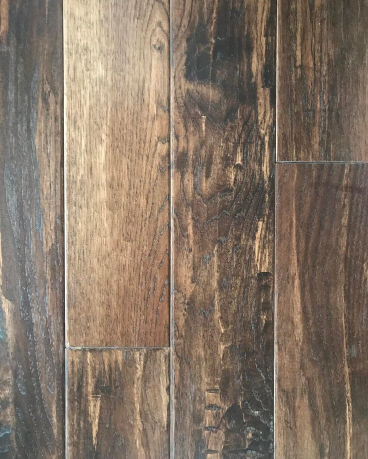 """Farmhouse flooring...""""American Scrape,"""" Hickory - River House. Width is 5 inches. Hardwood. (NOT engineered.) Flooring by Armstrong."""