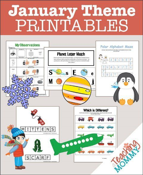 FREE January Themed Printables