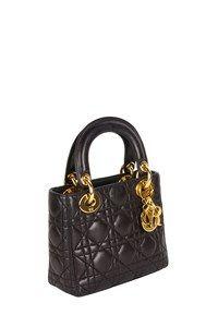 Dior Lady Dior Micro Cannage Μαύρη Τσάντα