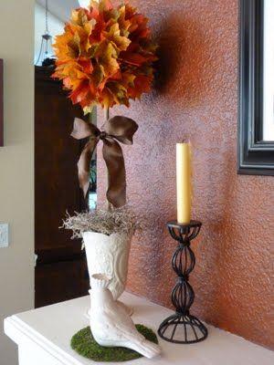 Bargain Bound: Fall Topiary  Easy, inexpensive yet very elegant looking.