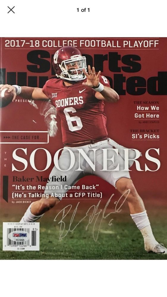 Baker Mayfield auto signed sport Illusustrated PSA DNA Browns Sooners 2f7f6cfb3