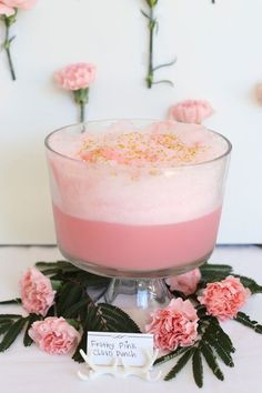 Delicious And Easy ! 5 Ingredient Dreamy Pink Party Punch Recipe ! Perfect for Baby/Bridal Showers, Birthdays, And any other Celebration that needs a Pretty Touch of Pink !