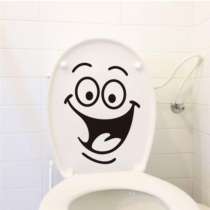 Boca grande banheiro adesivos de parede decoração 342. Diy vinil adesivos de paredes home mual decalque art cartazes de papel impermeável 7.0 alishoppbrasil