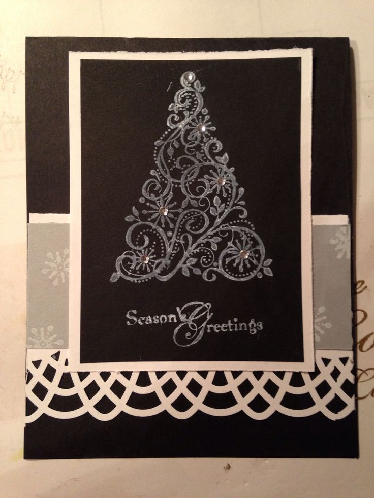 10/24/13.  Stampin up. Lovely as a tree Christmas caed