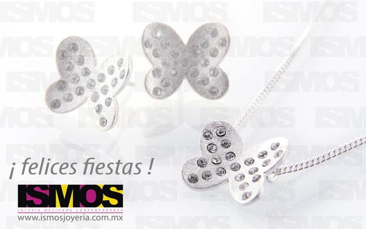 ISMOS Joyería: mariposas de plata y cristales // ISMOS Jewelry: silver and crystals butterflies