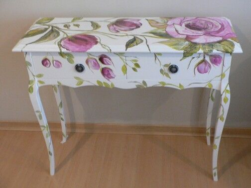 Hand painted table design Gabriela Espasandin Art Deco Buenos Aires 2013