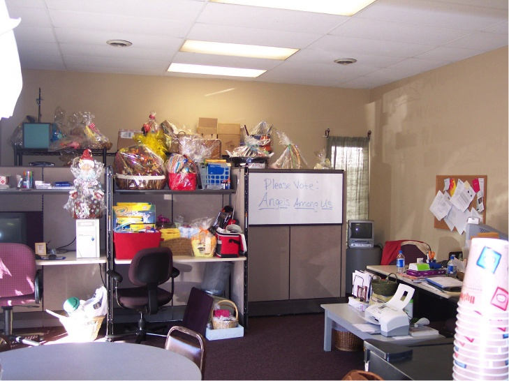 photo of angels among us prior to being awarded all makes 25000 nonprofit office makeover - Office Makeover Contest