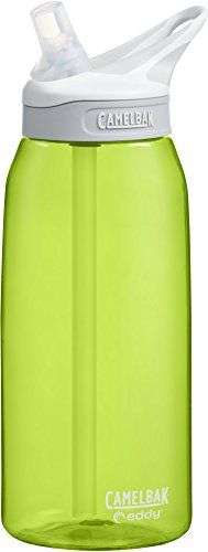 CamelBak Eddy Water Bottle, Limeade, .75 L. For product & price info go to:  https://all4hiking.com/products/camelbak-eddy-water-bottle-limeade-75-l/