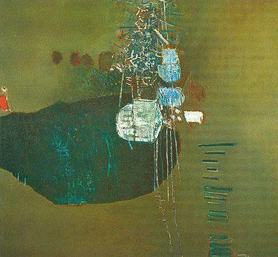 Contrição 1963   Manabu Mabe óleo sobre tela, c.i.d. 180.00 x 200.00 cm