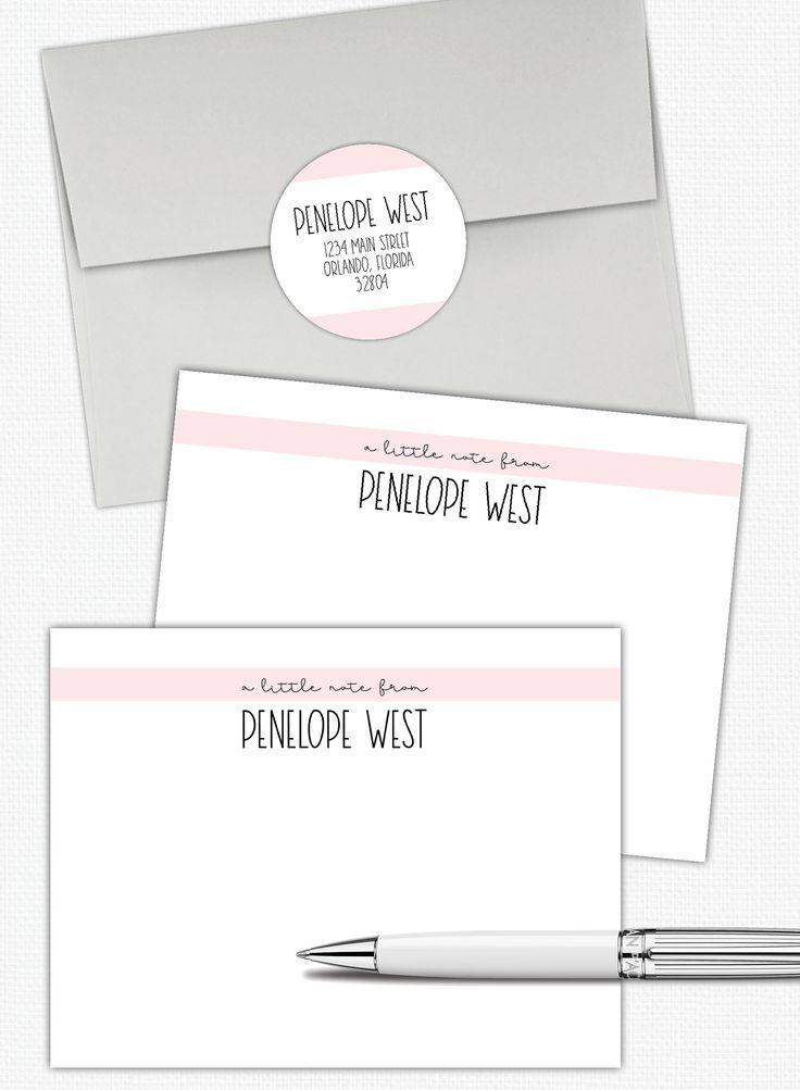 Personalized Stationery Set Women S Stationary Set Flat Note